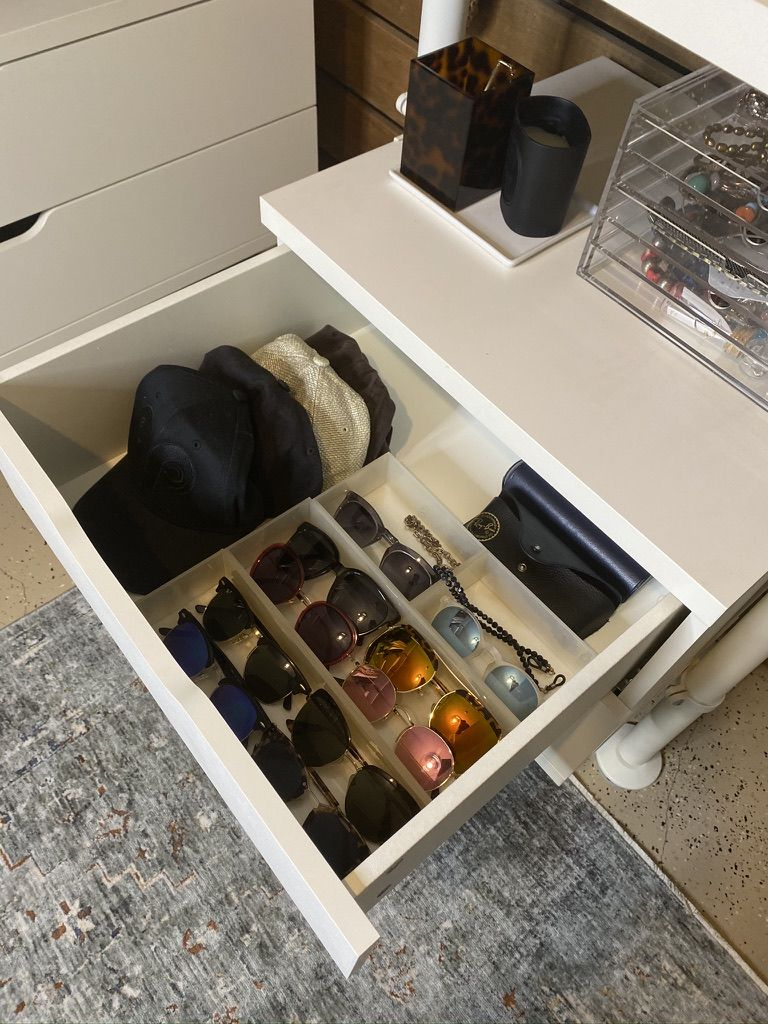 Organizing Your Accessories And Sunglasses In 2020 Drawer Inserts Drawers Drawer Organizers