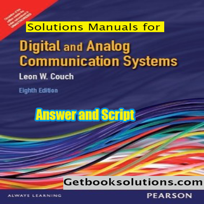 solutions manual digital analog communication systems 8th edition