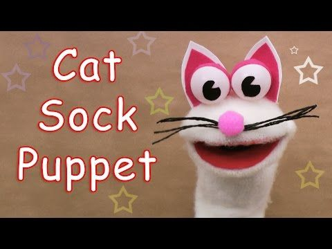 5e8211284 How to make a Cat Sock Puppet - Ana | DIY Crafts - YouTube | puppets ...