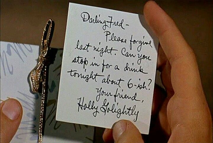 Memo from Holly Golightly / Breakfast at Tiffany's