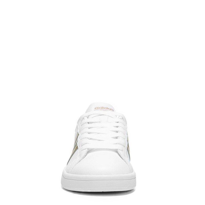 adidas donne cloudfoam vantaggio striscia sneakers (bianco / oro