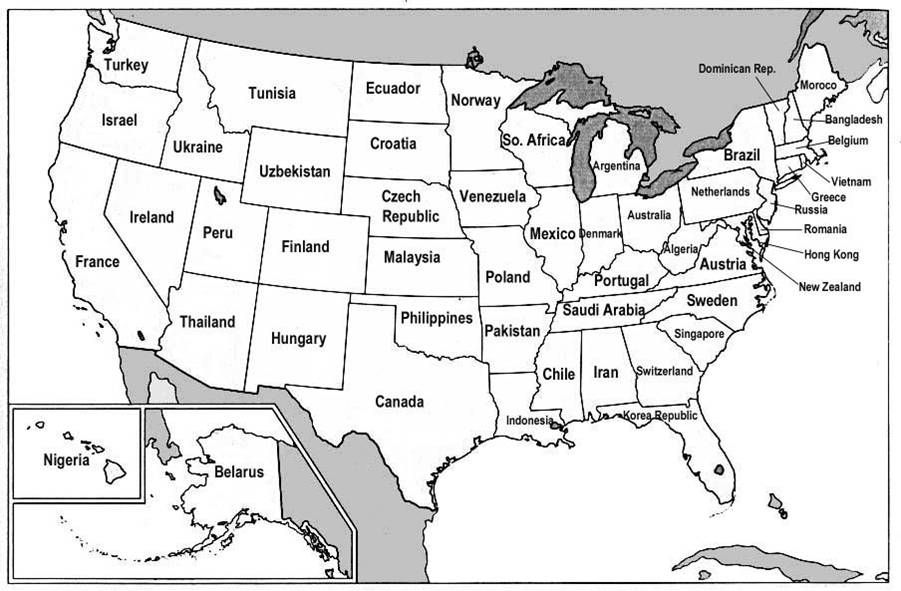 US States Renamed For Countries With Similar GDPs Country - Us country map with states