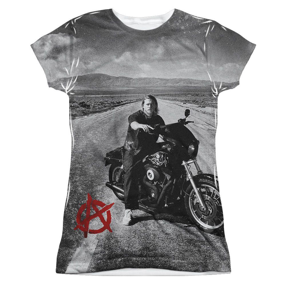 Sons Of Anarchy Soa Open Road Sublimation Juniors Shirt Junior Shirts Sublime Shirt Shirts