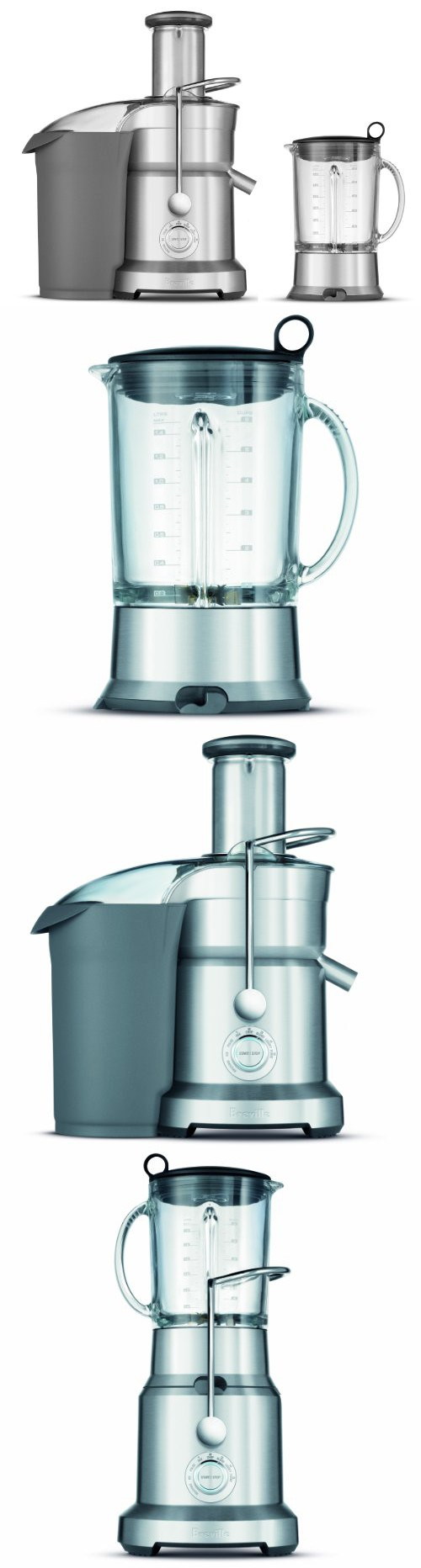 Breville BJB840XL Juice and Blend Dual-Purpose Juicer and Blender ...