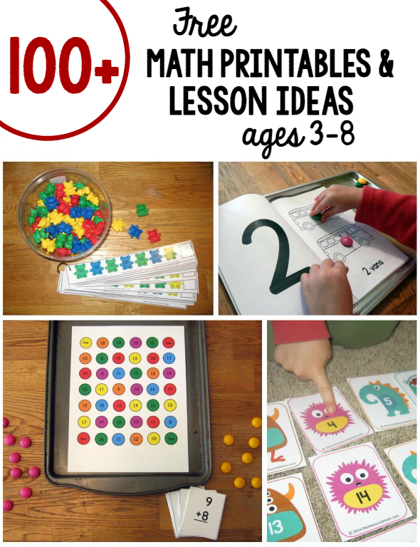 Over a hundred free math games and activities for kids in preschool on up. Love the variety!