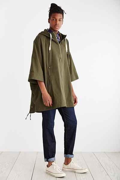 Koto Nikko Ripstop Hooded Poncho Urban Outfitters New Man Clothing Nikko Hooded Poncho