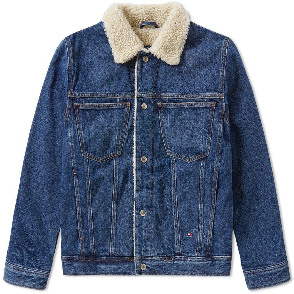 Tommy Jeans Mens Sherpa Parka Boyfriend Coat