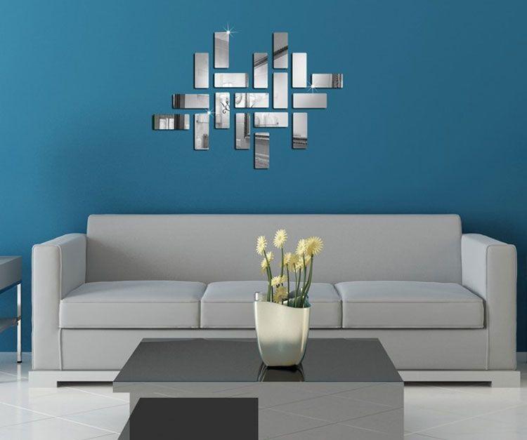 Specchi Adesivi Decorativi per Pareti dal Design Particolare