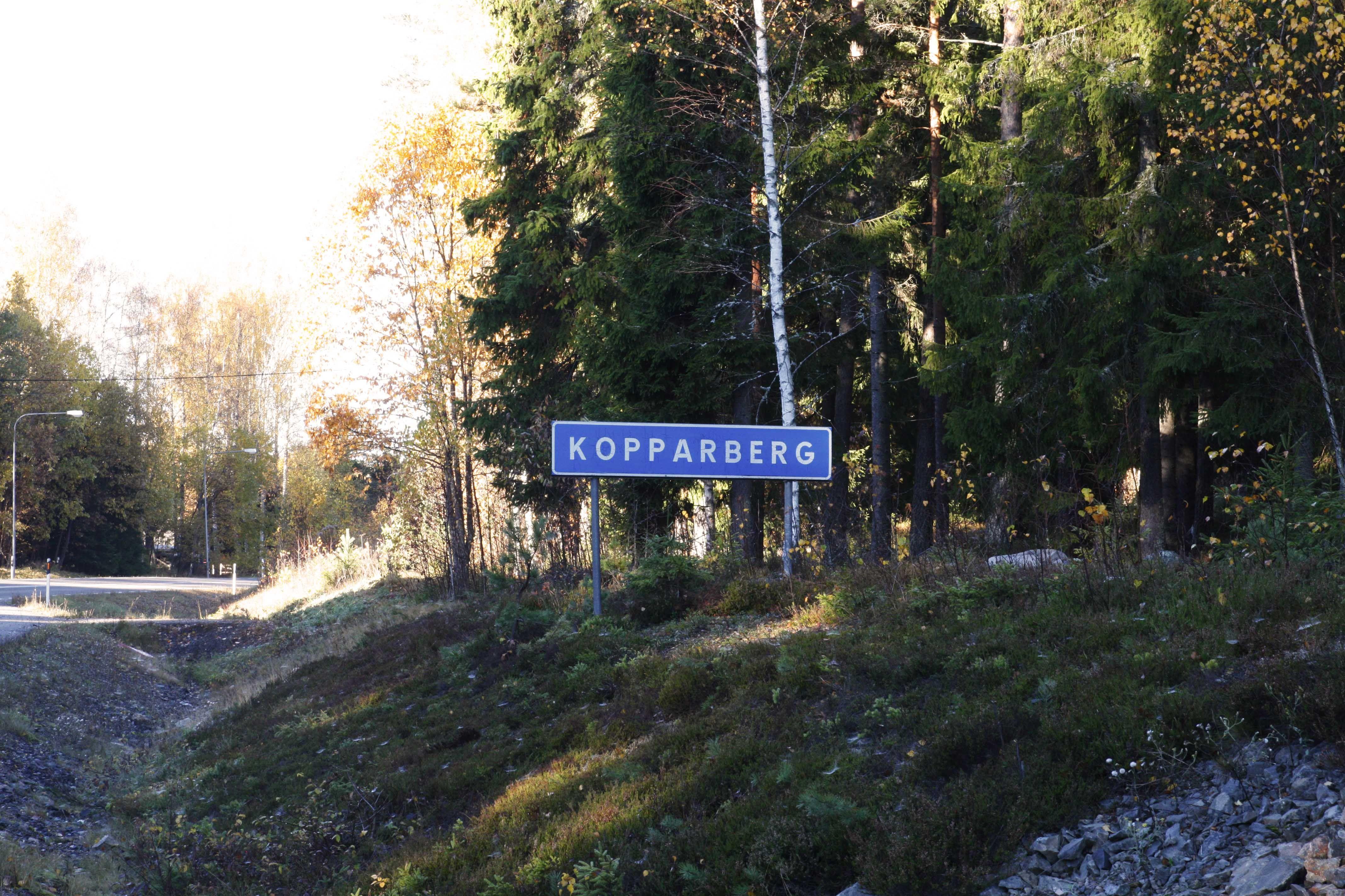 Kopparberg road sign