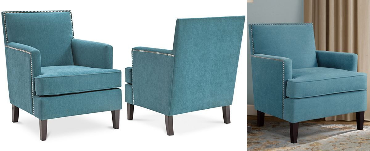 Kendall Fabric Accent Chair Quick Ship Front Room Accent
