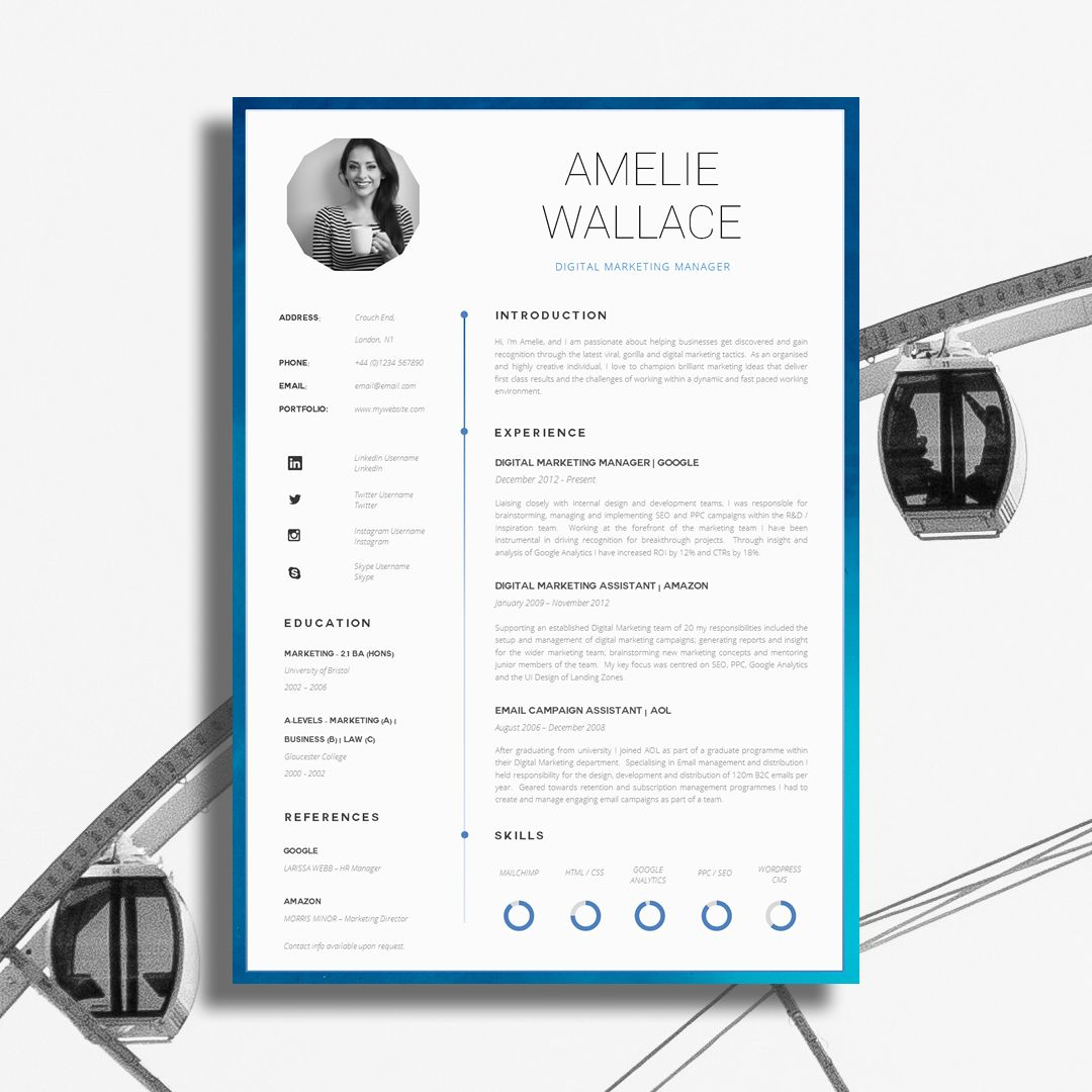 Creative CV Design | RESUME | Pinterest