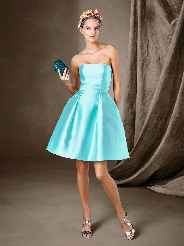 Pronovias vestido lady turquesa | Boda. Invitadas | Pinterest | Boda ...