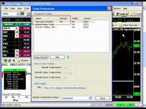 Trading tools broker integration on options