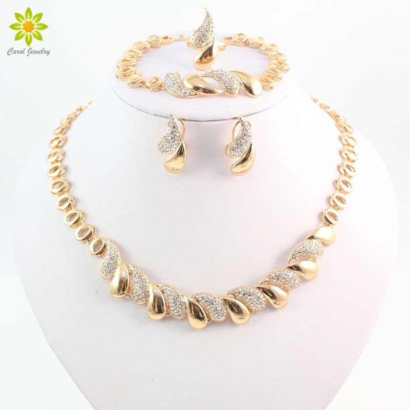 dc160addf40 Find More Jewelry Sets Information about Fashion Women African 18 K Gold  Plated Necklace Earrings Set Party Bridal Wedding Accessories Jewelry Set