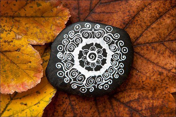Hand painted stone pebble by CalmEnergy on Etsy, zł49.00
