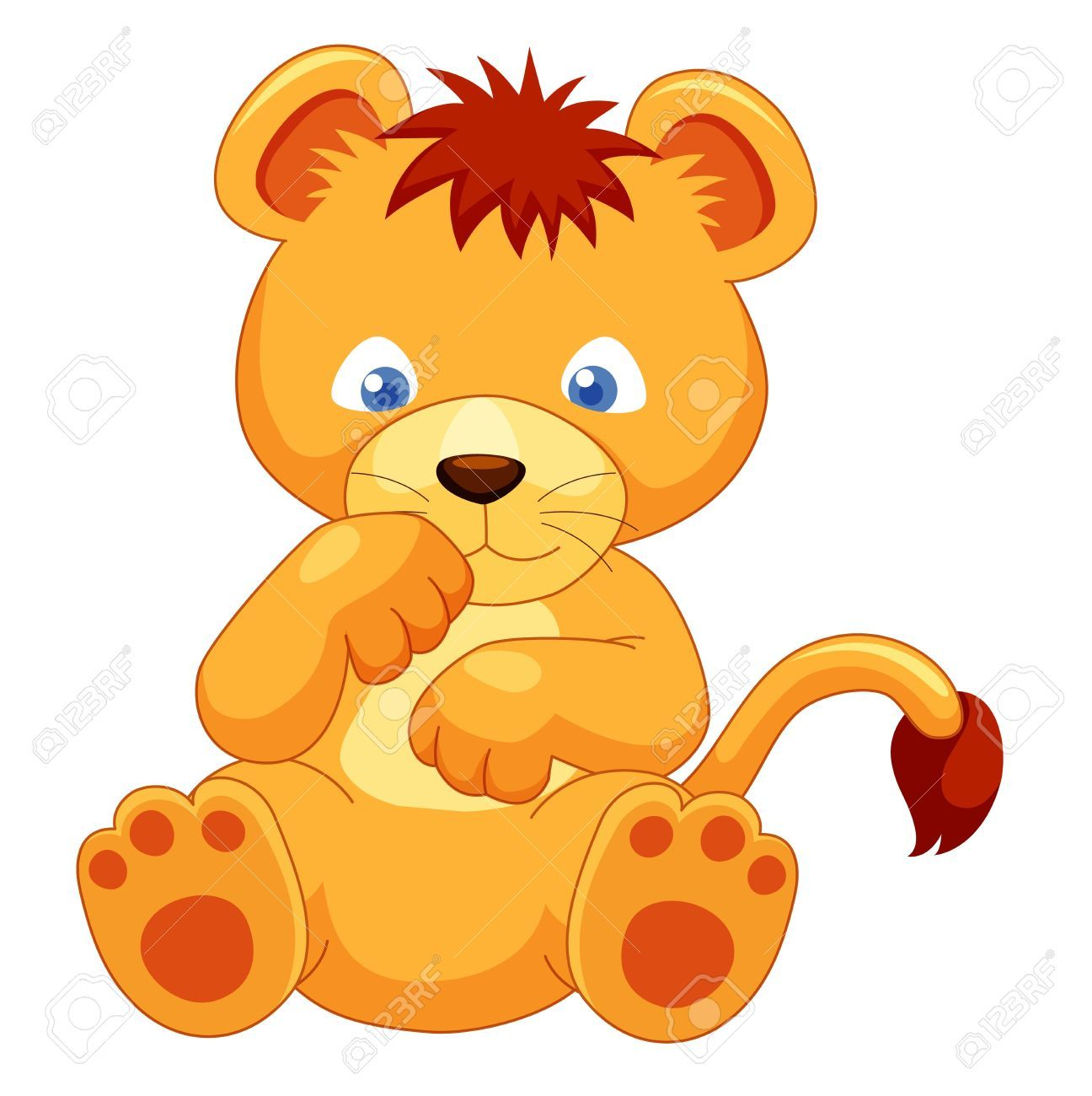 14884256 cute lion cub vector stock photo jpg 1296 1300 lions rh pinterest com cute lion cub clipart lion cub scout clipart