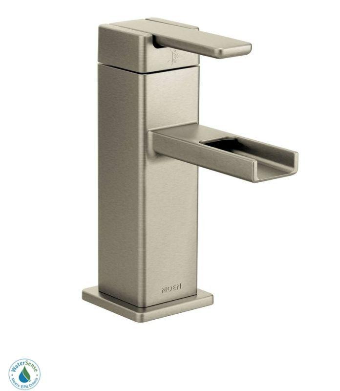 Moen S6705 Single Handle Single Hole Bathroom Faucet from the 90 ...