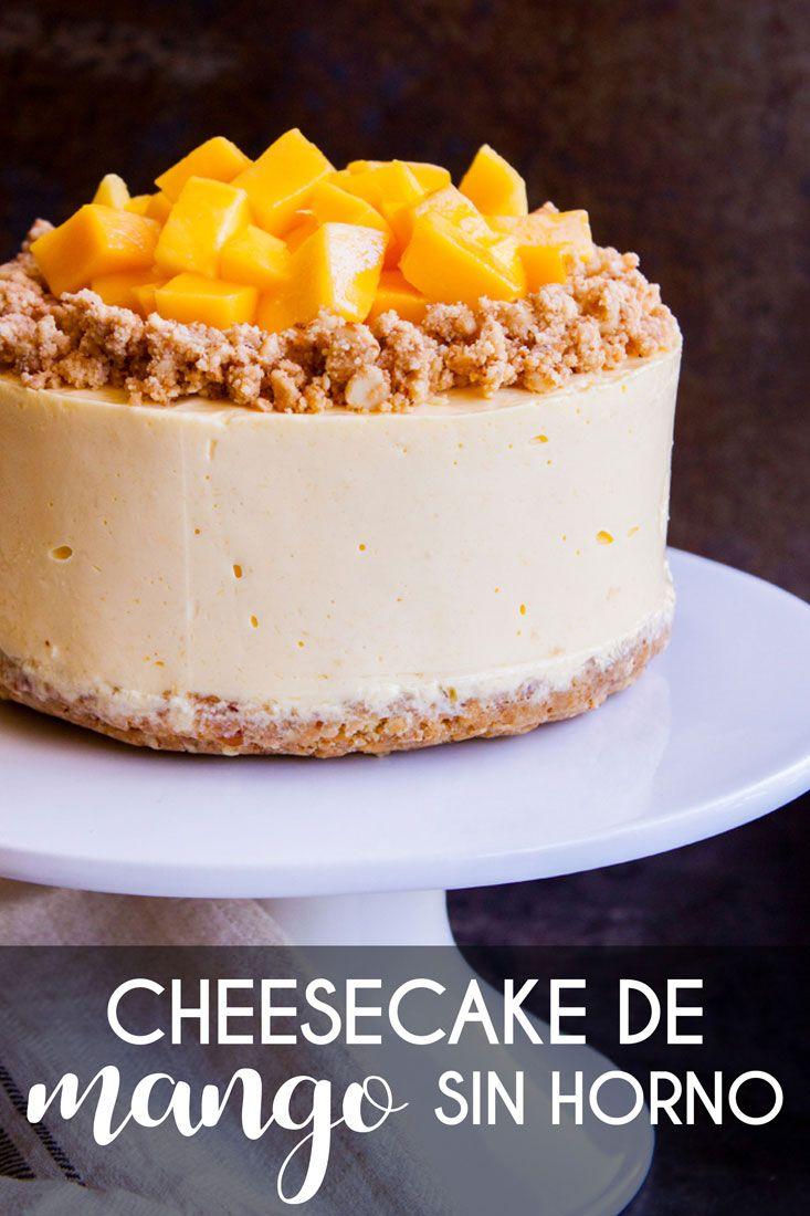 CHEESECAKE DE MANGO (sin horno)