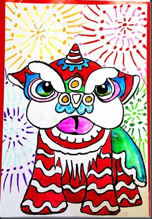 Chinese New Year Guided Drawing With Metallic Paint And
