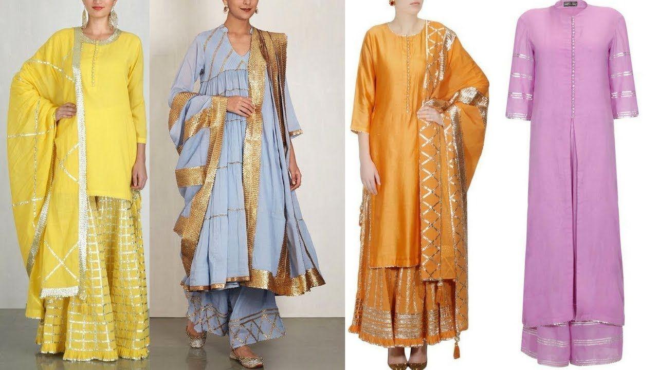 6ebe082ec3 Very beautiful gota work suits   Elegant gota patti suit designs ...
