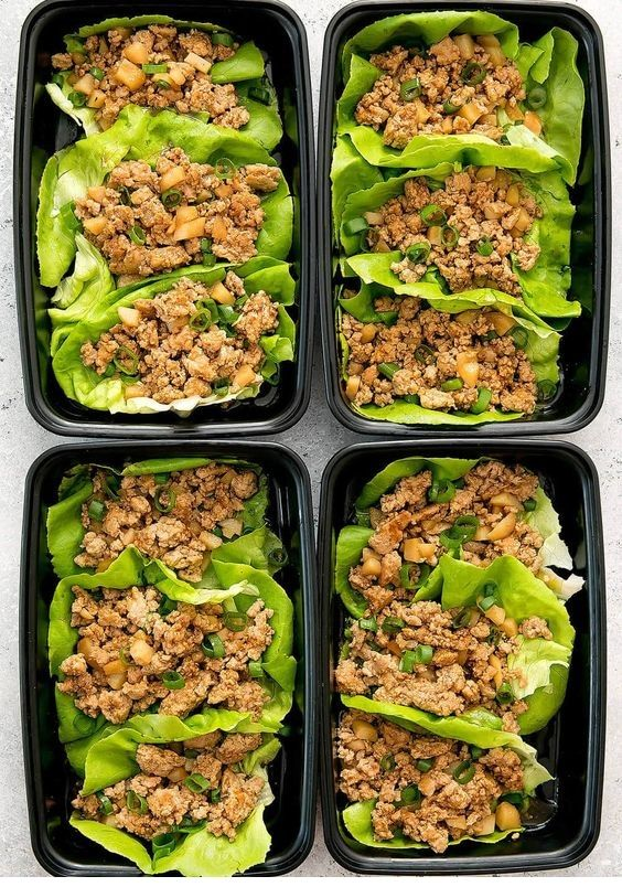 Chicken Lettuce Wraps Meal Prep  #weeklymealprep