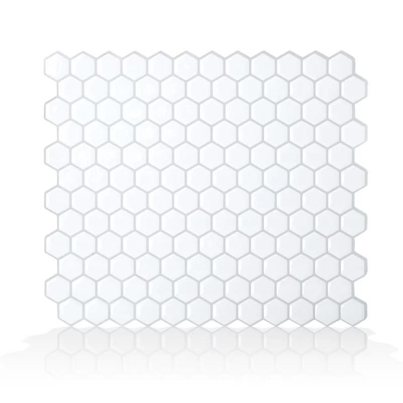Hexago Gel Peel Amp Stick Mosaic Tile Smart Tiles Backsplash