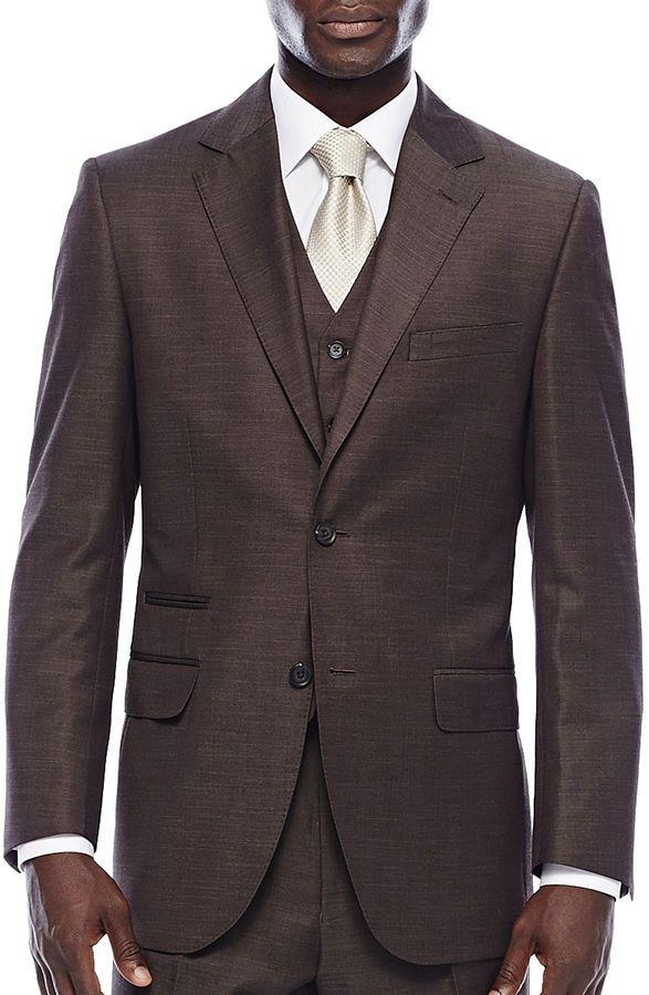 540b2f76af Steve Harvey Brown Shantung Suit Jacket