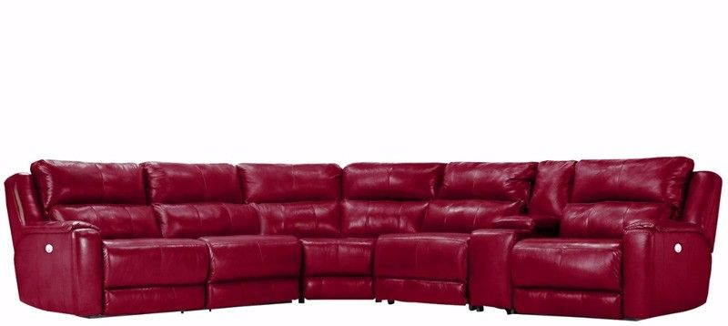 Southern Motion   Dazzle 6 Piece Power Sectional In Burpee Top Grain Leather   883 07P 08P 92P 80 47 84 L2