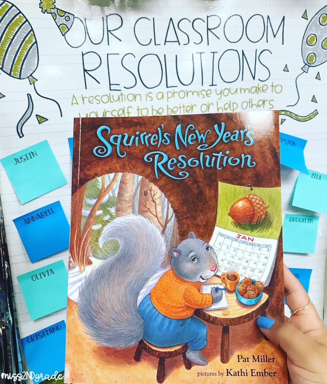 Hooray for 2019 and for Classroom Resolutions! 🎉 'Squirrel