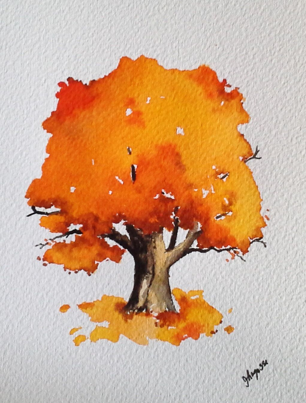 Image Result For Fall Trees Watercolor Dessin Aquarelle