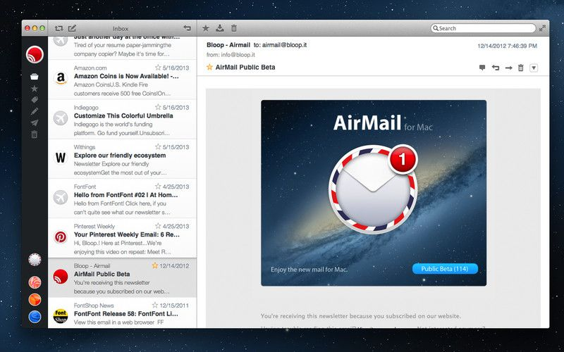 Airmail Mac app store, App, Air mail