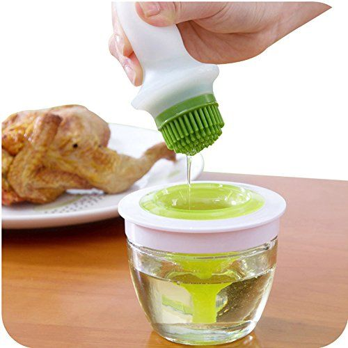Online Cheap Wholesale Kitchen Oil Bottle Pot Container Anti Oil Leak With  Silicone Oil Brush Grill Brush Bbq Tool Silicone Basting By