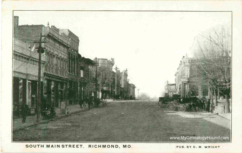 Richmond Missouri South Main Street Ray County Vintage