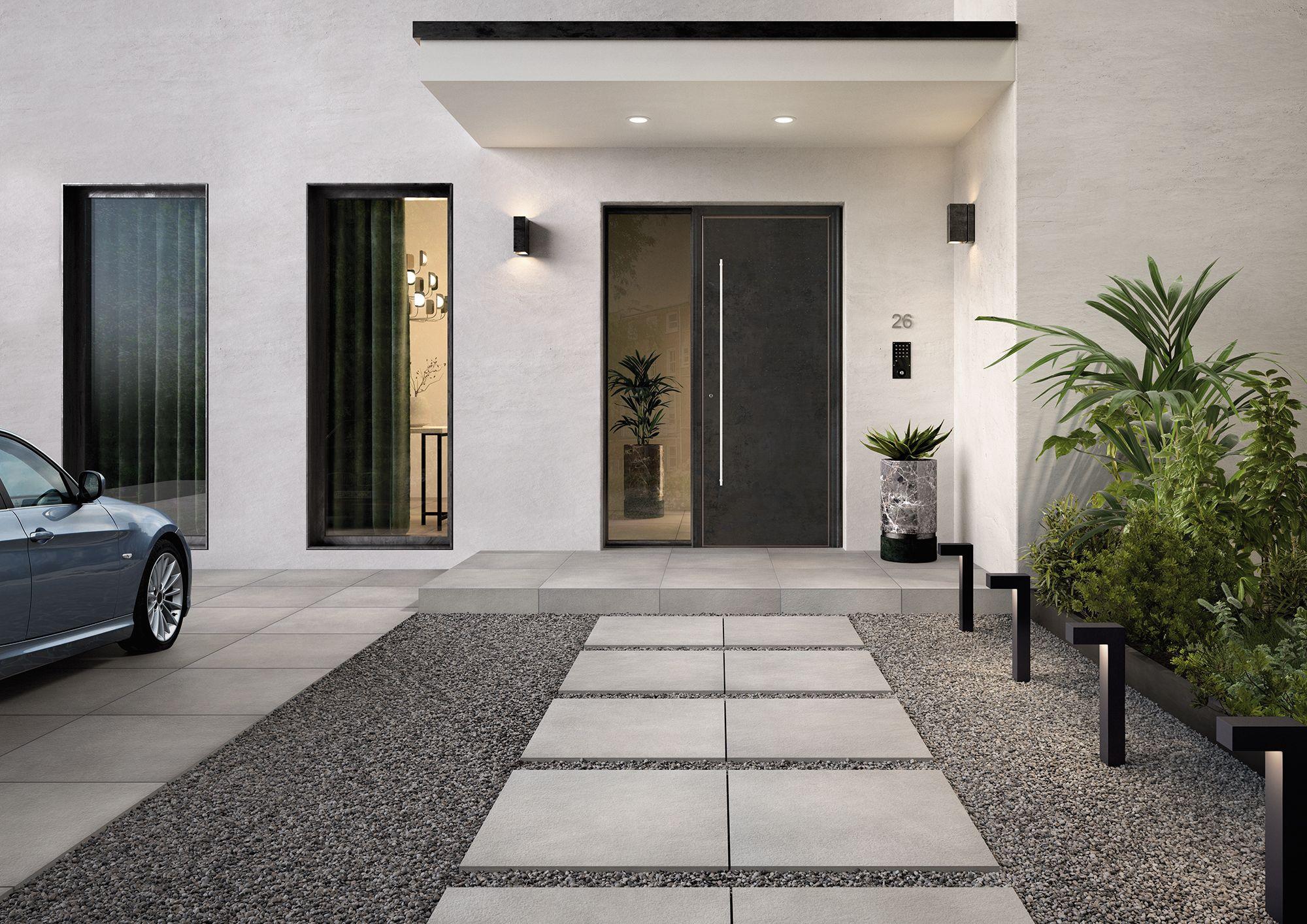 Outdoor Tile Inspiration Modern Landscaping House Exterior