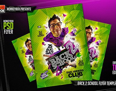 Check Out New Work On My Behance Portfolio Back  School Flyer