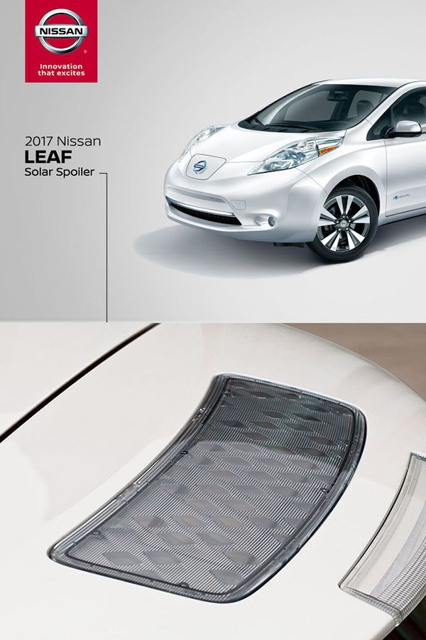 The Nissan Leaf Photovoltaic Solar Panel Rear Spoiler Converts Sunlight Into Energy To Help Power Vehicle Accessories Disclaimer Nissan Leaf Nissan Sell Car