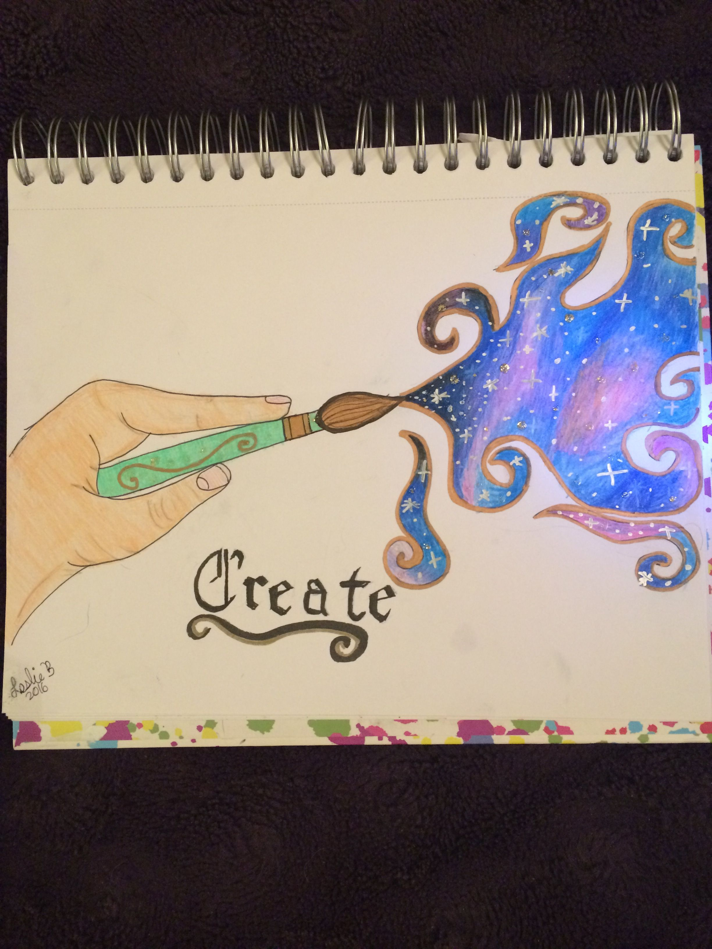 Let your creativity go beyond the Galaxy, new drawing I