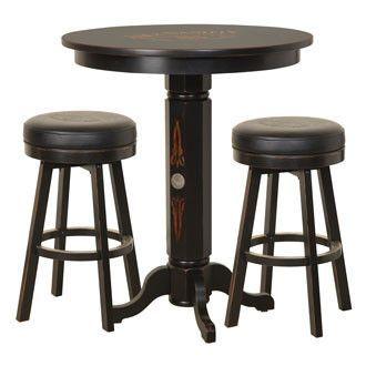Jack Daniel S Wood Pub Table Stool Set Tennessee Charcoal