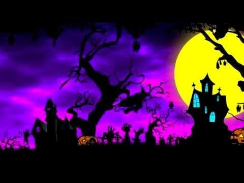 4k Cartoon Halloween Background Animation Royalty Free Uhd Youtube Halloween Backgrounds Halloween Cartoons Scary Halloween Backgrounds