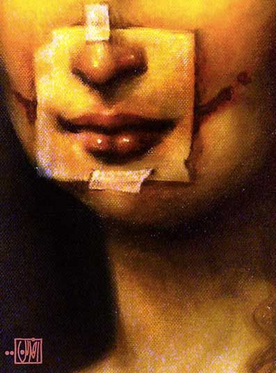 Artist:Afarin Sajedi To me this is a great example of how many women feel about themselves. In todays society everything seems to be about appearance.