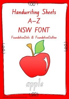 Handwriting worksheets a to z nsw font handwriting worksheets these handwriting sheets are bw and cover a to z in nsw font we have provided a sample for you to try fandeluxe Image collections
