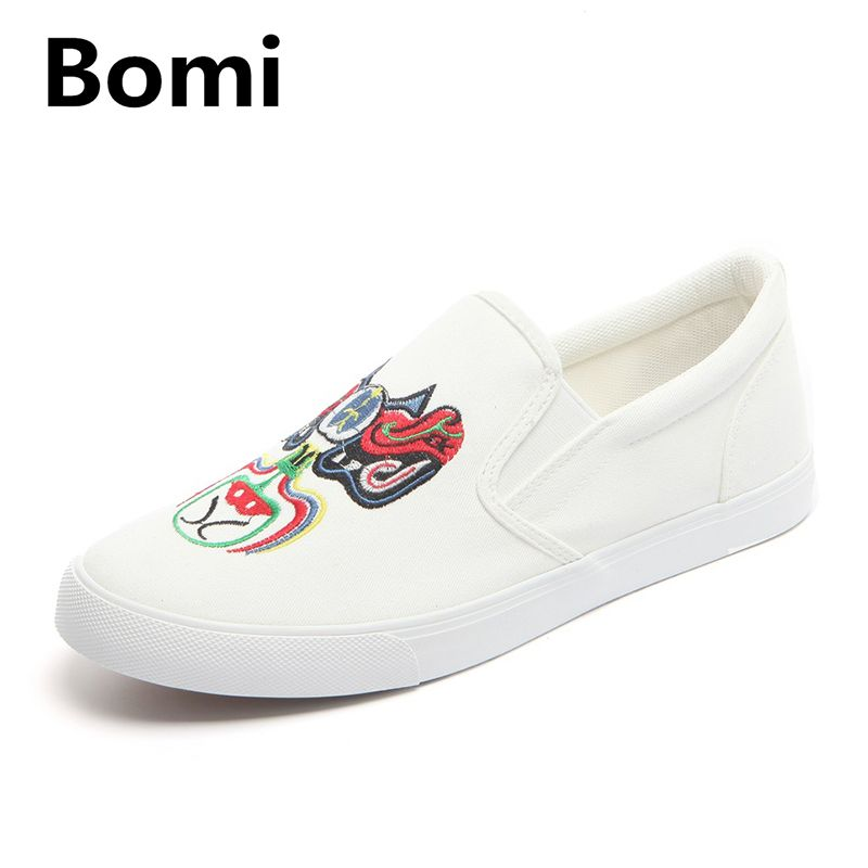 65b2ece95942 BOMI luxury Brand Black Canvas Shoes Men Sport Summer Fashion Canvas Shoes  Men Slip on Classic White Canvas Shoes Men loafer