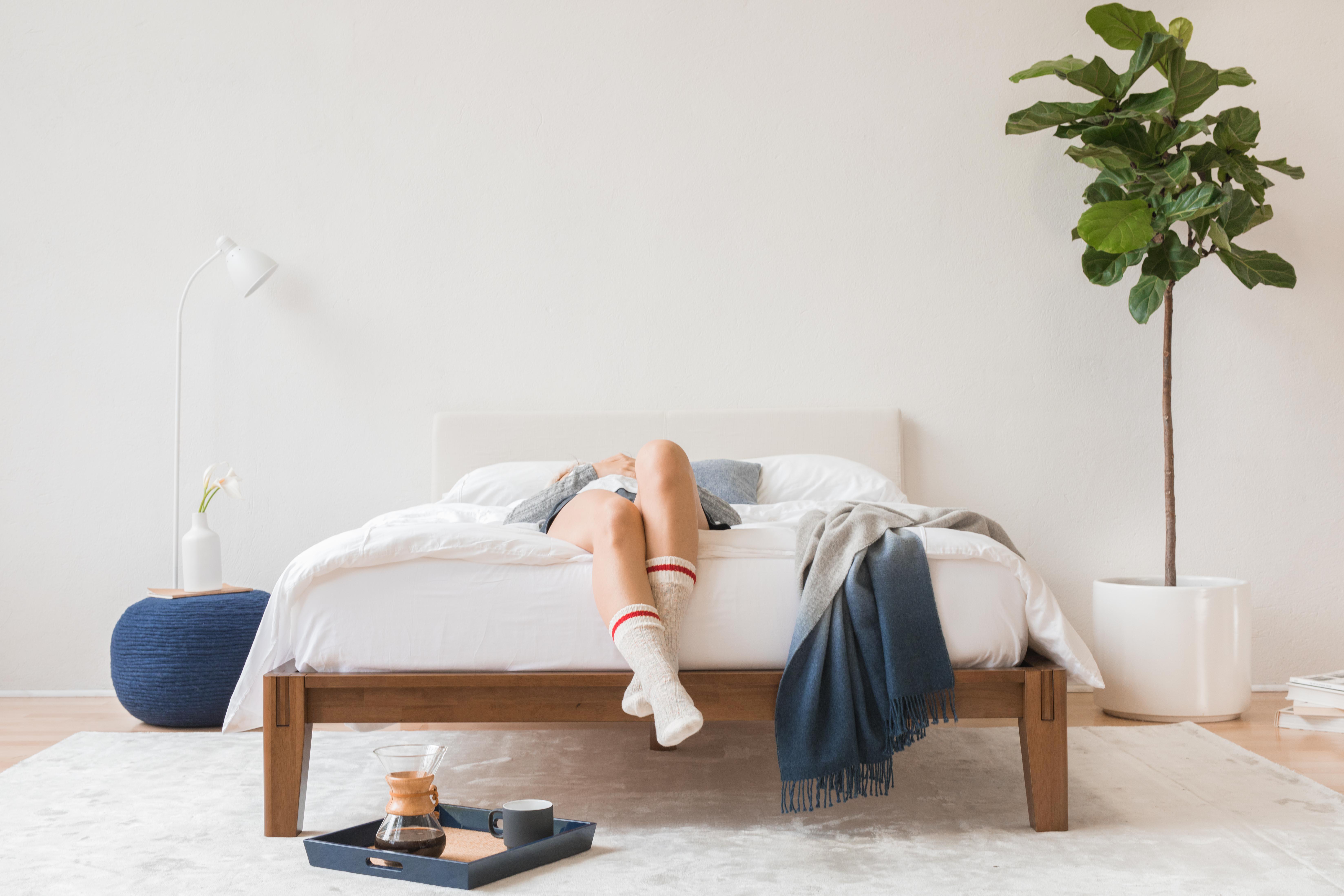 Elevated Design Thuma Platform Bed Frame Matress Single Bed