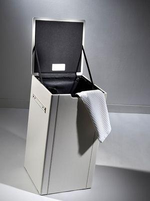 Loft & Bath® Blanc > Accessoires Cuir Blanc > Panier à linge en cuir 35 litres