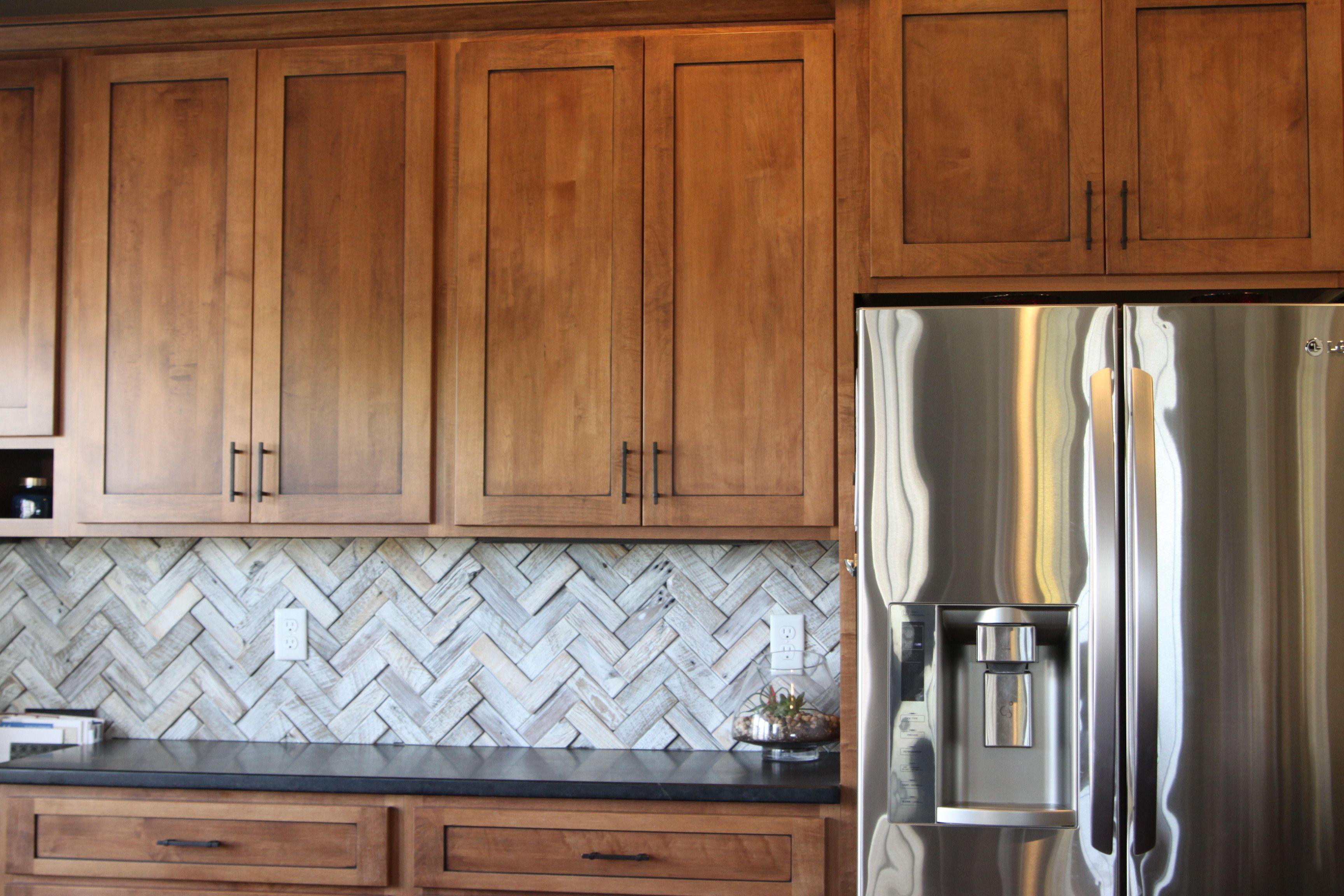 Herringbone Backsplash Wood Tile Kitchen Backsplash Wood Tile