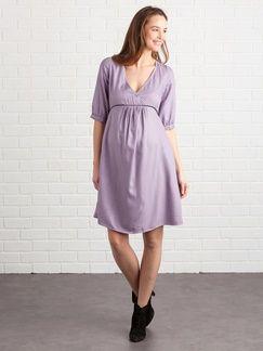 e6043b772 Vestido para embarazo y lactancia cruzado y estampado - violeta medio  estampado