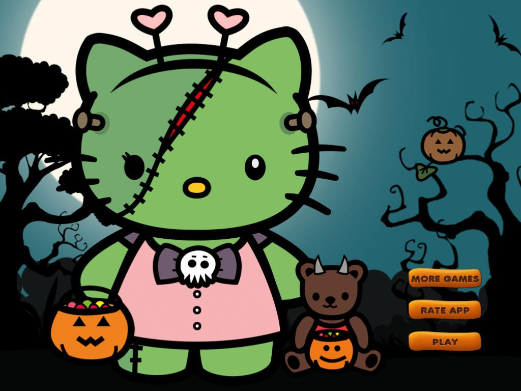 2019 year style- Kitty Hello happy halloween wallpaper pictures