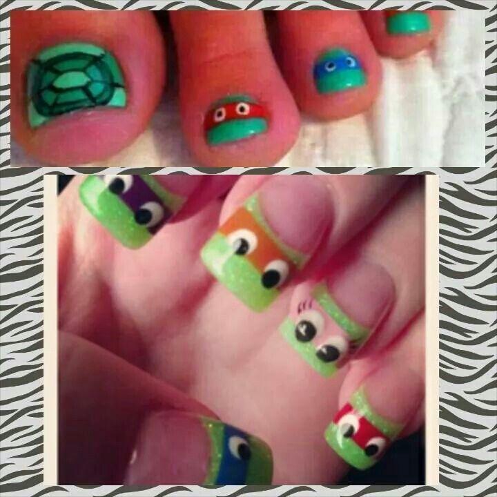 Soooooo cute <3   Nails   Pinterest   Girls nails, Ninja turtle ...
