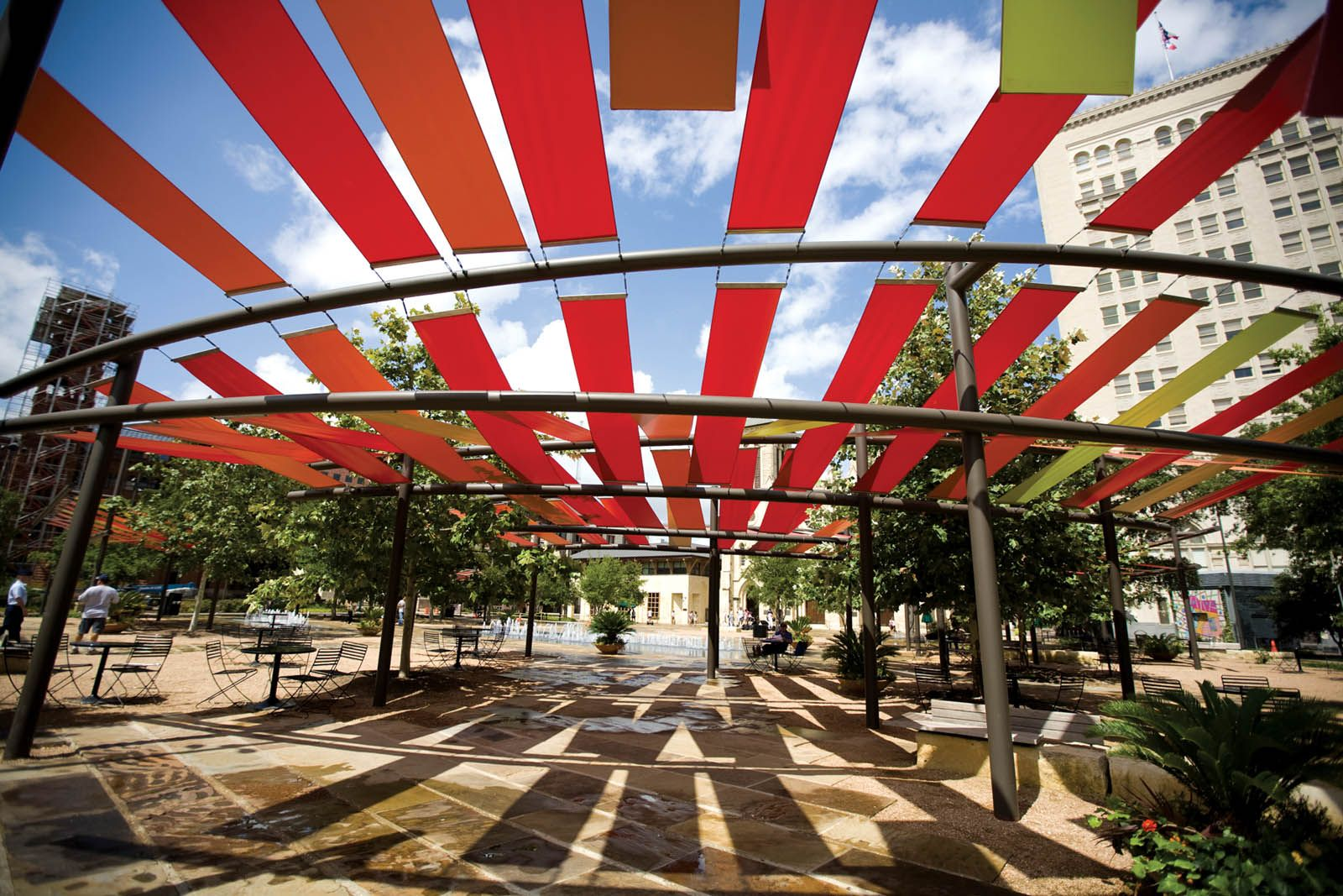 The Main Plaza Landscape Renovation Was Completed In 2007 And Is Now A Heavily Programmed Public E Located Heart Of City San Antonio