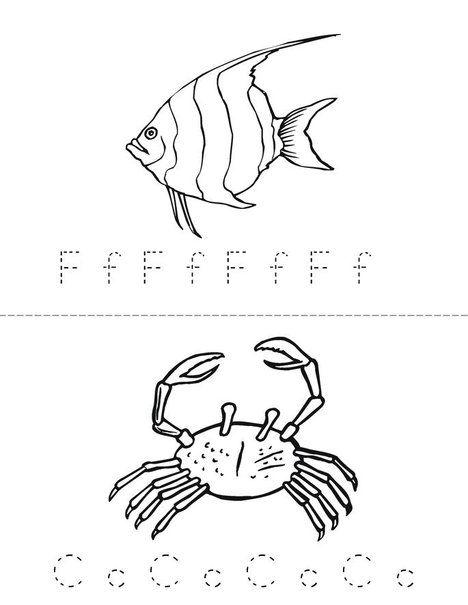 Sea Life Adventure Mini Book From TwistyNoodle